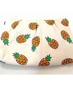 Banana Pineapple Fruit Clutch Shoulder Bag Makeup Padded Purse Fun Hipster Cool