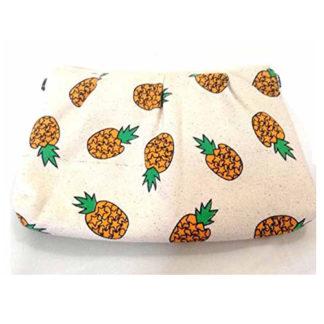 Banana Pineapple Fruit Clutch Shoulder Bag Makeup Padded Purse Fun Hipster Cool