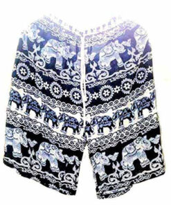 Unisex Men Women Thai Elephant Summer Travel Lightweight Hippy Funky Shorts L-Xl