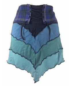 Genuine Scottish Tartan Designer Pixie Kilt Steam Punk Psytrance Skirt W11 Blue