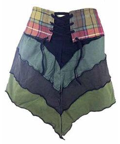 Genuine Scottish Tartan Designer Pixie Kilt Steam Punk Psytrance Skirt W11 Green