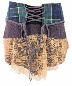 Genuine Scottish Tartan Designer Funky Kilt Steam Punk Psytrance Skirt W7 Earth