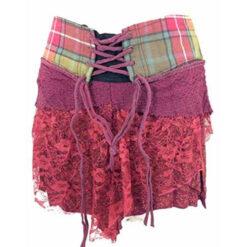 Genuine Scottish Tartan Designer Funky Kilt Steam Punk Psytrance Skirt W7 Red