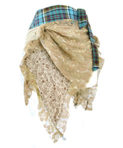 Albannach Punk Genuine Real Scottish Tartan & Lace Funky Kilt Skirt N3 Uttam