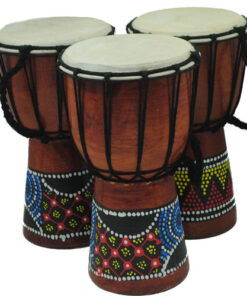 Indonesian Balinese Hand Painted Djembe Drum 14cm diameter / 5.5 inches