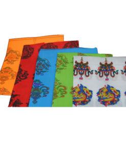 Nepal Buddhist Ritual Silk Blend Scarf - Khata / Kata / Katha 6 Ft Long Boudenat
