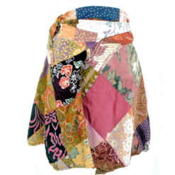 Vintage Upcycled Patchwork Hippy Gypsy Moroccan Patch Skirt /Halterneck Top Med