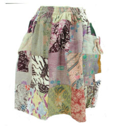 Vintage Upcycled Patchwork Hippy Festival Gypsy Patch Womens Skirt Small Medium