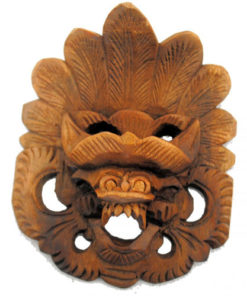 Fairtrade Balinese Carved Wooden Garuda Barong Protective Good Luck Mask Wall