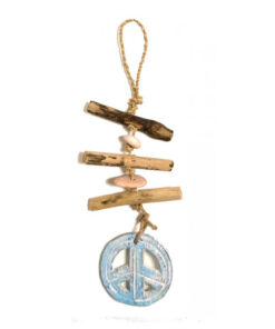 Ethical Hanging Driftwood Nautical Buddhist Om Mantra Mobile Wall Kitchen Decor
