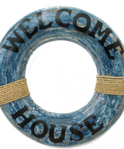 Driftwood Nautical Beach Welcome Ring Pirate Sea Theme Decor Wall Door Hanging