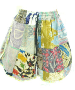 Upcycled Batik Retro Patchwork Hippy Festival Womens Summer Shorts Small Med