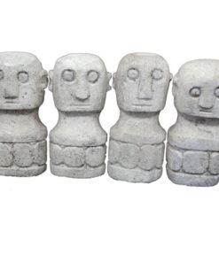 West Papaun Stone Carving Head Man Easter Island style Ornament Spirit God