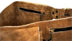 Leather belt pocket