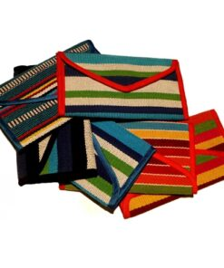 Fair Trade Vietnamese Tribal Chau Ma Hand Made Woven Textile Bifold Wallet Purse
