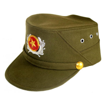 Vietnam Army Vietnamese Military Cap Hat with metal badge army surplus