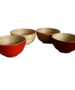 Fair Trade Vietnamese Bamboo Snack Rice Salad Fruit Bowl choose colour&size
