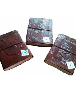 Recycled Paper Handmade Leather Travel Journal Notebook Sketchbook Diary (Lea1)