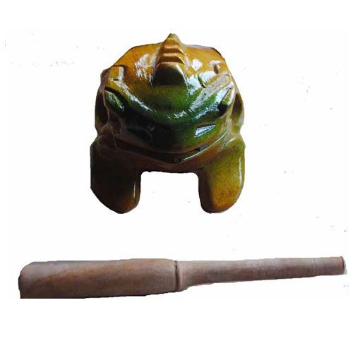 Fair Trade Vietnamese Painted Wooden Frog Rasp Block - Unusual Percussion 80