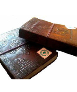 Recycled Paper Handmade Leather Travel Journal Notebook Sketchbook Diary (Lea3)