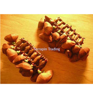 Fair Trade Andean Shaman Rattle Maraca Calabash Foot Shaker Tapar Nuts R116Foot