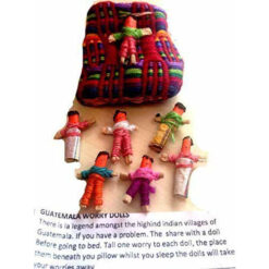 6 Handmade Fairtrade Guatemalan Worry Dolls Mayan Tribal Shaman Witch Magic Good