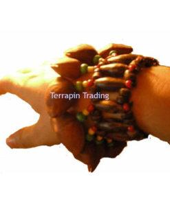 Fair Trade Andean Shaman Rattle Maraca Calabash Wrist Shaker Tapar Nuts R116