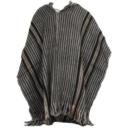 Striped Alpaca Poncho