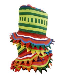 Tribal Thai Hmong Headgear Hat Handmade Jester Clown Festival Applique