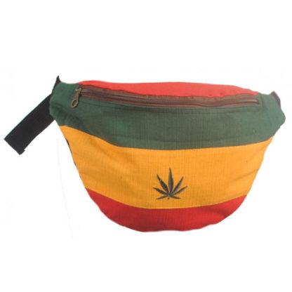 Mens Cotton Hip Waist Bum Bag bumbag festival rasta hash reggae money belt TH79
