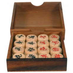 Fair Trade Thai Thailand Wooden Rainwood Chinese Chess Set Wooden Box 13x13x3cm