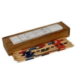 Fair Trade Thai Thailand Wooden Rainwood Mikado Set in Wooden Box 20x5x3cm