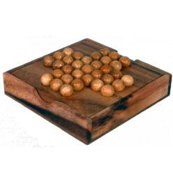 Fair Trade Thai Thailand Wooden Rainwood Solitaire Set in Wooden Box 14x14x3cm