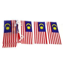 Malaysia Malaysian Flag Bunting 15 x flag of 15x30cm TOTAL LENGTH >5M asia