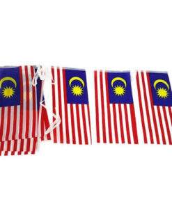 Malaysia Malaysian Flag Bunting 15 x flag of 15x30cm TOTAL LENGTH >5M asia
