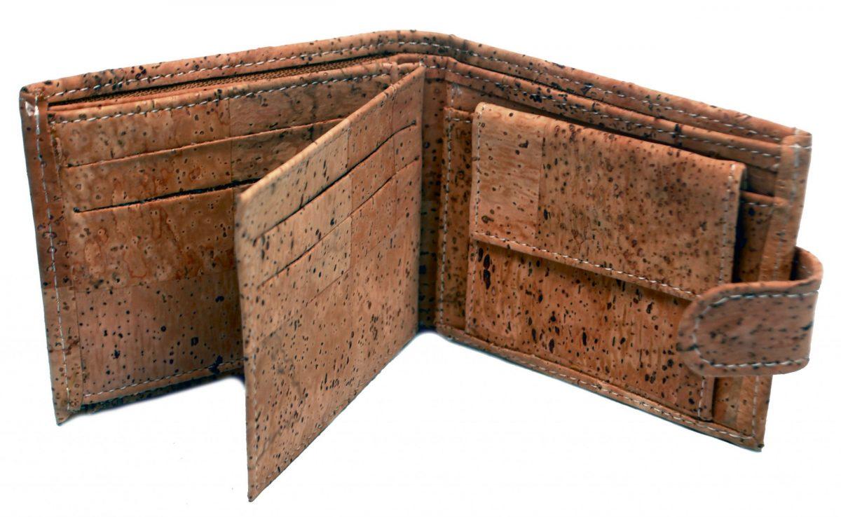 cork trifold wallet