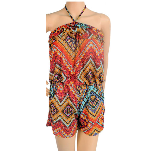 Jumpsuit Romper Playsuit Multicoloured Summer beach dress shorts all-in-0ne 8-12
