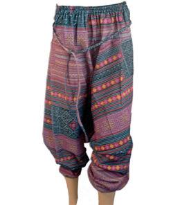 Red Hareem Fisherman Trousers Harem Wide leg Travel Hippy Boho Yoga Baggy Pants