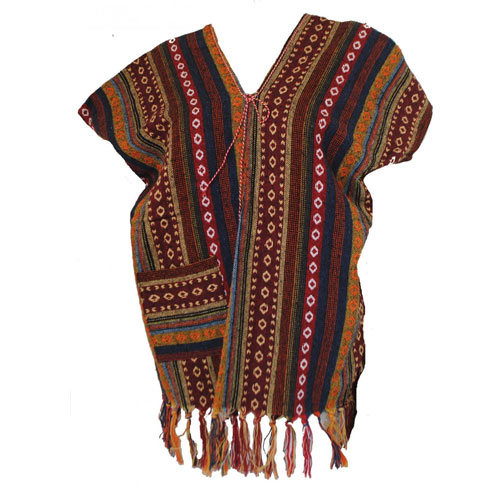 Womens Tribal Hmong Ladies Funky Boho Hippy Festival Poncho Top Jumper One Size