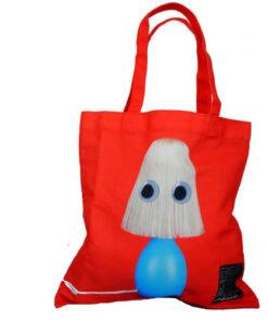 Fun Lampshade Holiday Beach Contemporary Pop Red Blue Tote Bag Shoulder Satchel - Medium