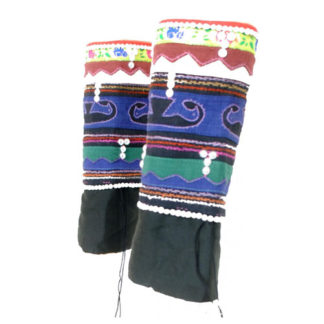 Hmong Tribal Thai Laos Leg Warmers Ethnic Ethical Festival Embroidered Clothing - One Size