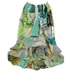 Women Patchwork Hippy Festival Bright Boho Multicoloured Gipsy Skirt Onesize 402