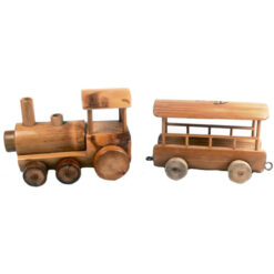 Fair Trade Vietnamese Vietnam Bamboo Wooden Train & Carriage By Taboo 15Cm