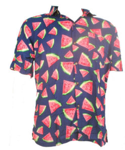 Fair Trade Watermelon Tropical Fruit Shirt With Coconut Buttons S-Xxl
