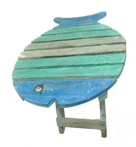Driftwood Nautical Fish Beach Sea Folding Travel Small Bright Table Chair