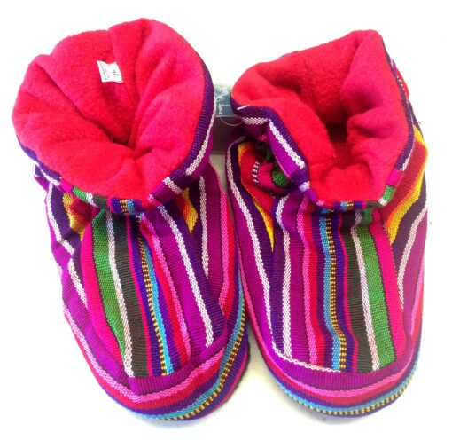 Fleece Rainbow Slippers